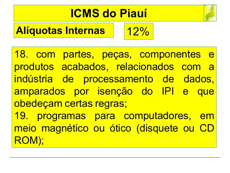 Alíquotas Internas 12%
