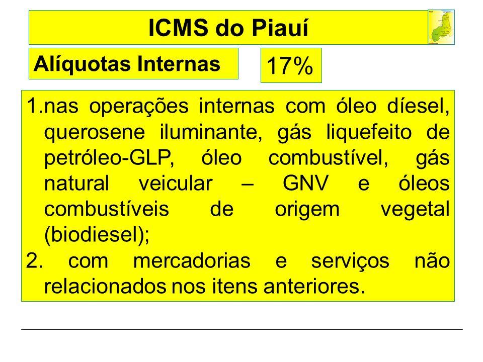 Alíquotas Internas 17%