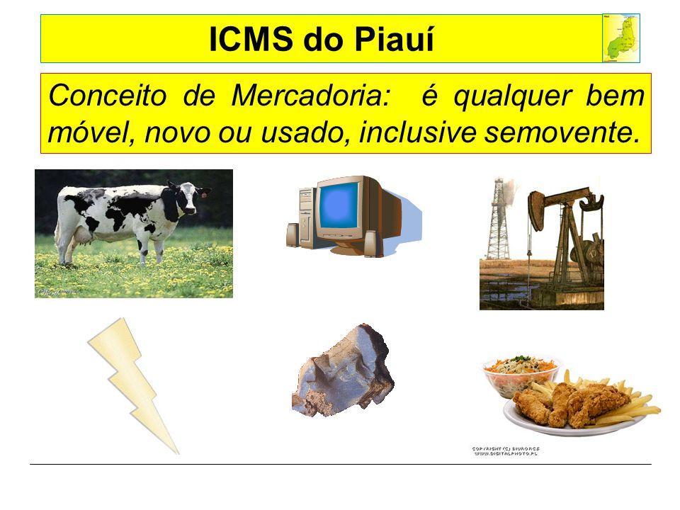 Conceito de Mercadoria: é qualquer bem móvel, novo ou usado, inclusive semovente.
