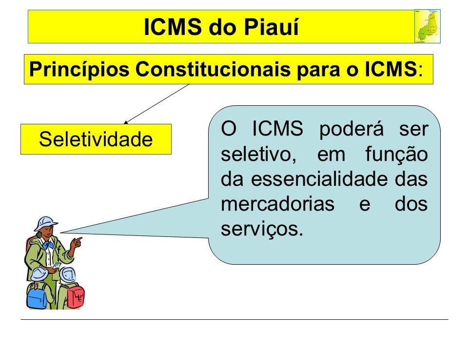 Princípios Constitucionais para o ICMS: