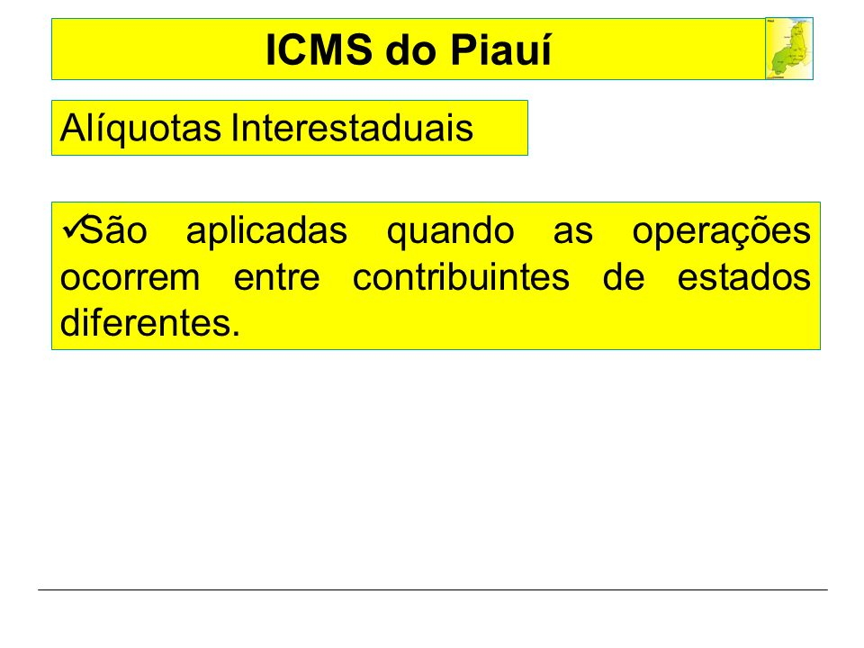 Alíquotas Interestaduais