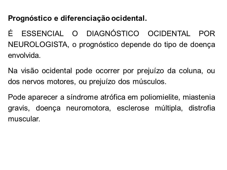 Prognóstico e diferenciação ocidental.