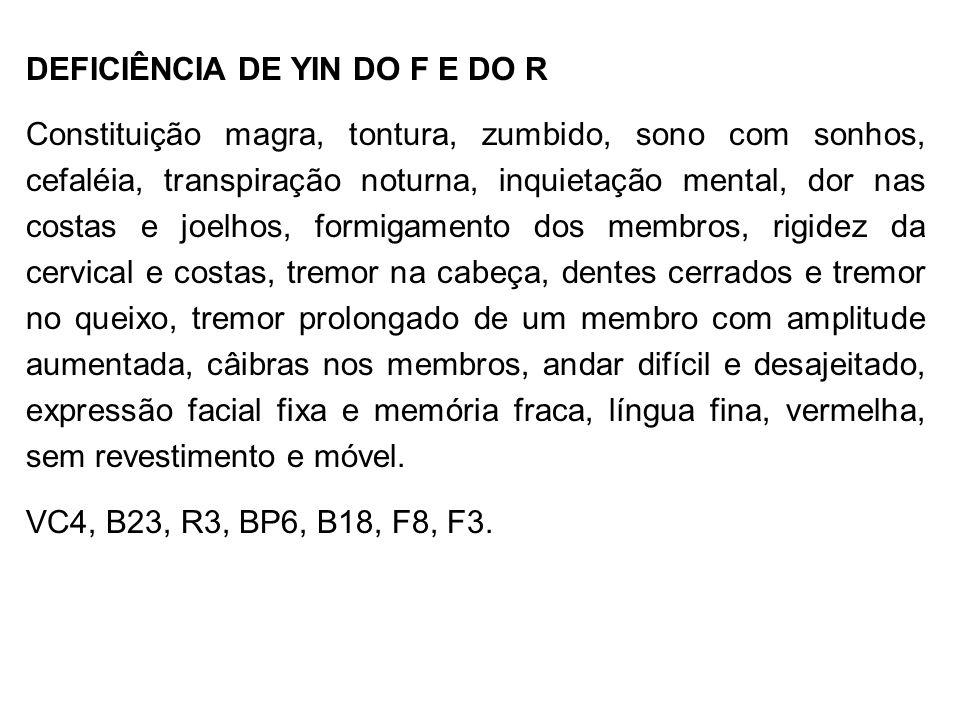 DEFICIÊNCIA DE YIN DO F E DO R