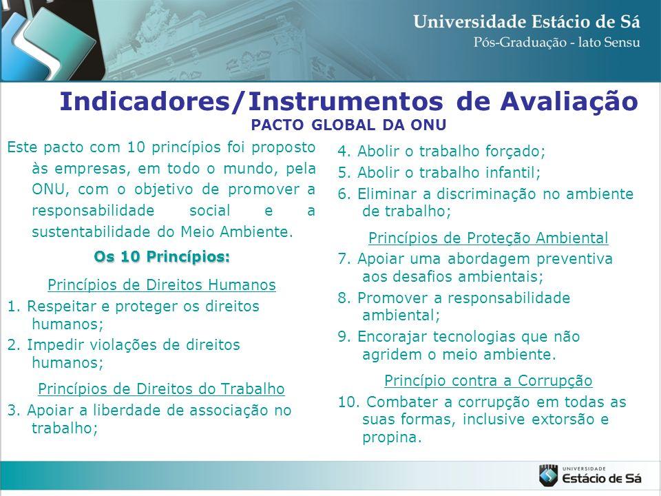 Indicadores/Instrumentos de Avaliação