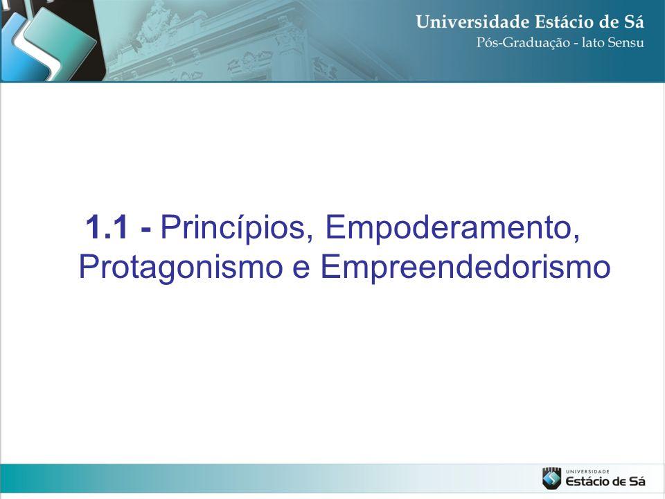 1.1 - Princípios, Empoderamento, Protagonismo e Empreendedorismo