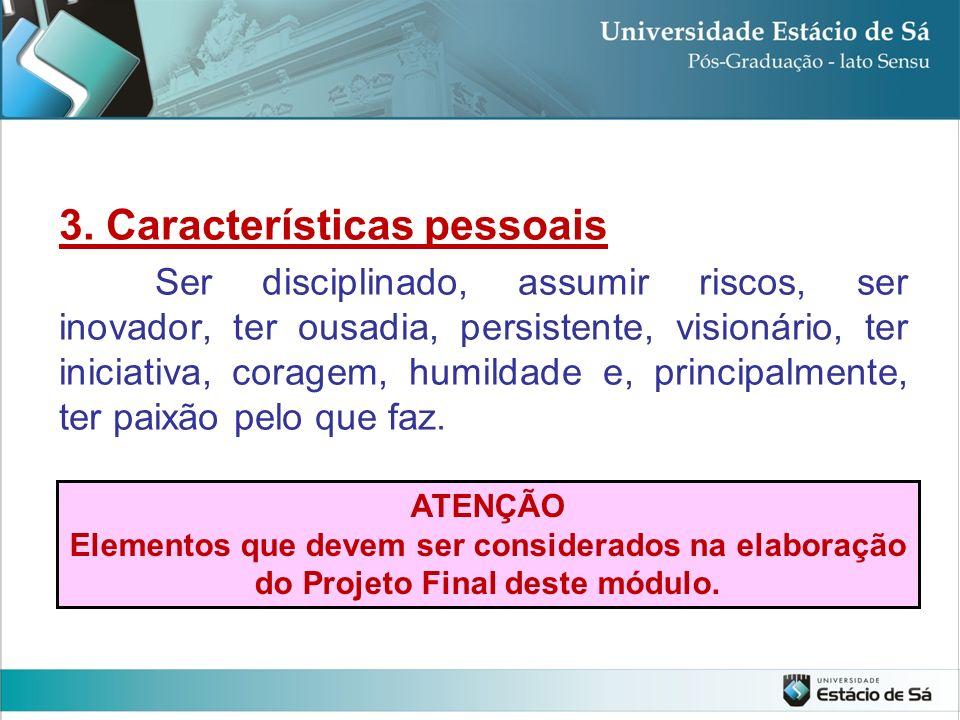 3. Características pessoais