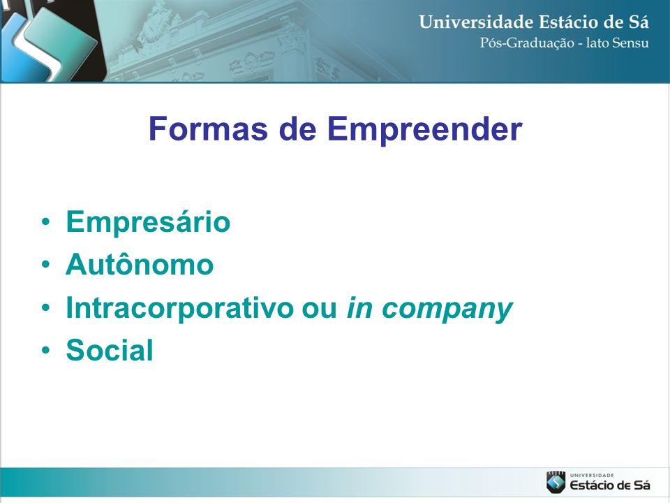 Formas de Empreender Empresário Autônomo