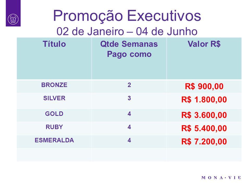 Promoção Executivos 02 de Janeiro – 04 de Junho