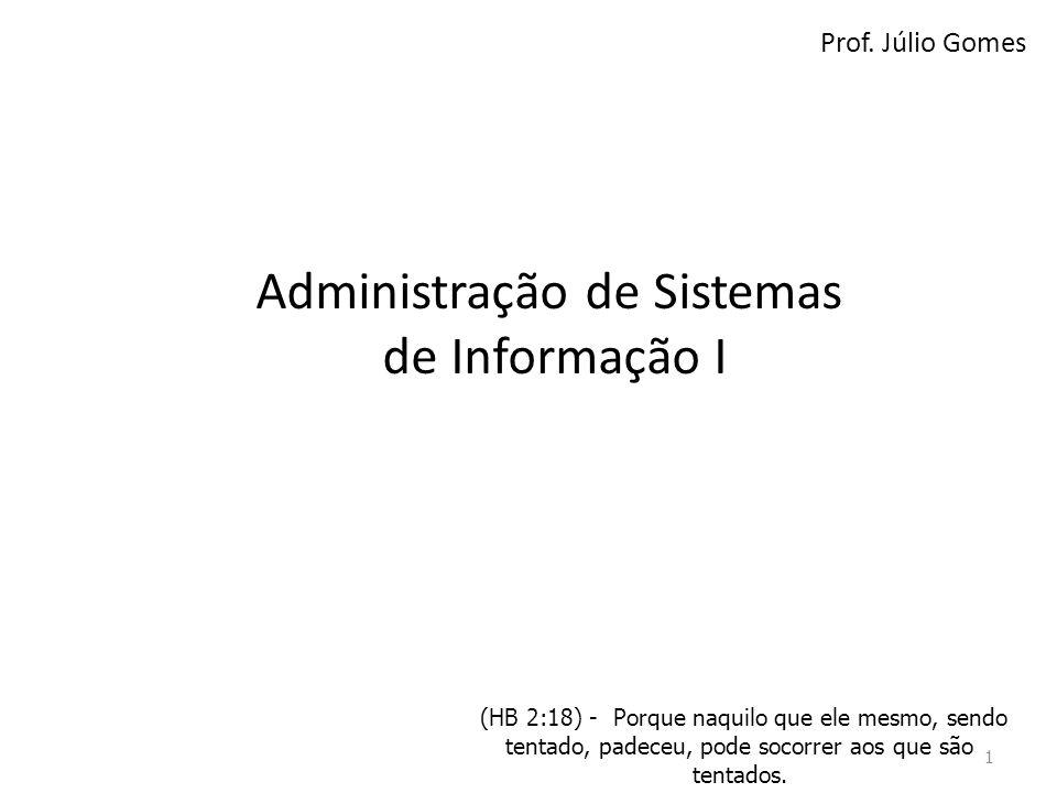 Administração de Sistemas de Informação I
