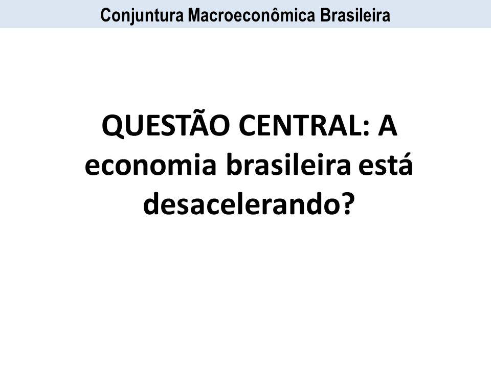 QUESTÃO CENTRAL: A economia brasileira está desacelerando