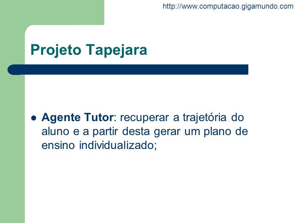 Projeto Tapejara Agente Tutor: recuperar a trajetória do aluno e a partir desta gerar um plano de ensino individualizado;