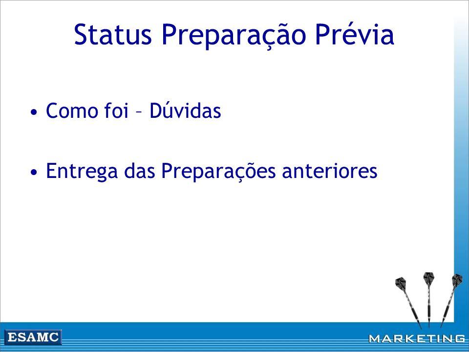 Status Preparação Prévia