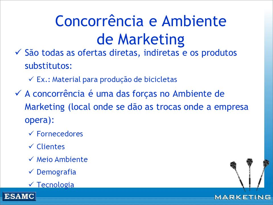 Concorrência e Ambiente de Marketing