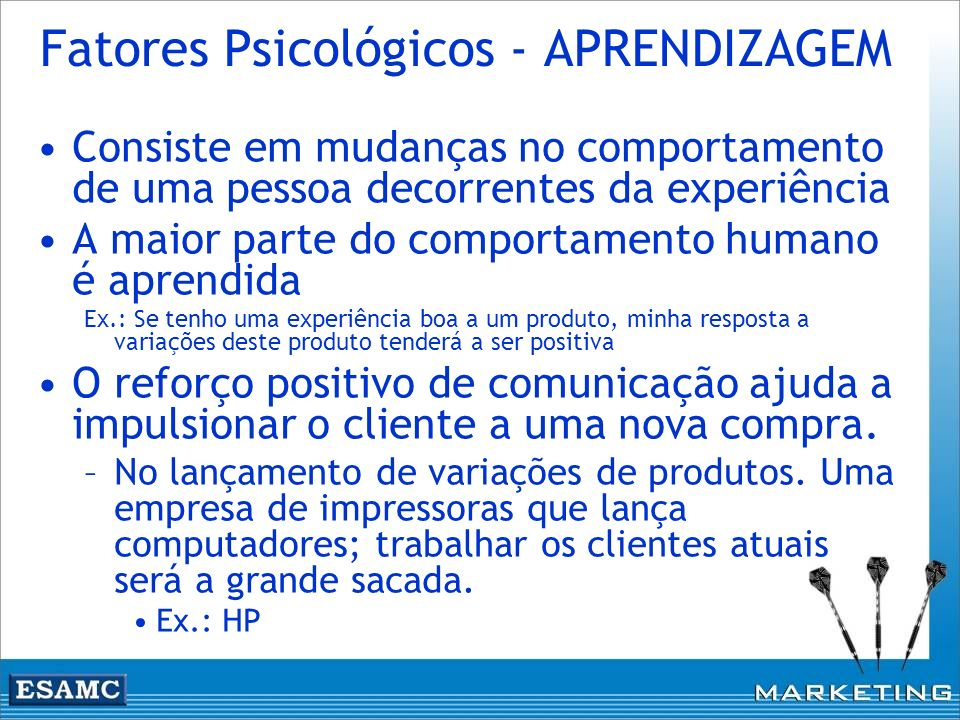 Fatores Psicológicos - APRENDIZAGEM