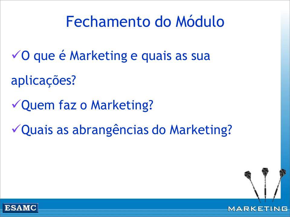 Fechamento do Módulo O que é Marketing e quais as sua aplicações