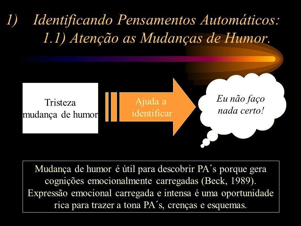 Identificando Pensamentos Automáticos: 1