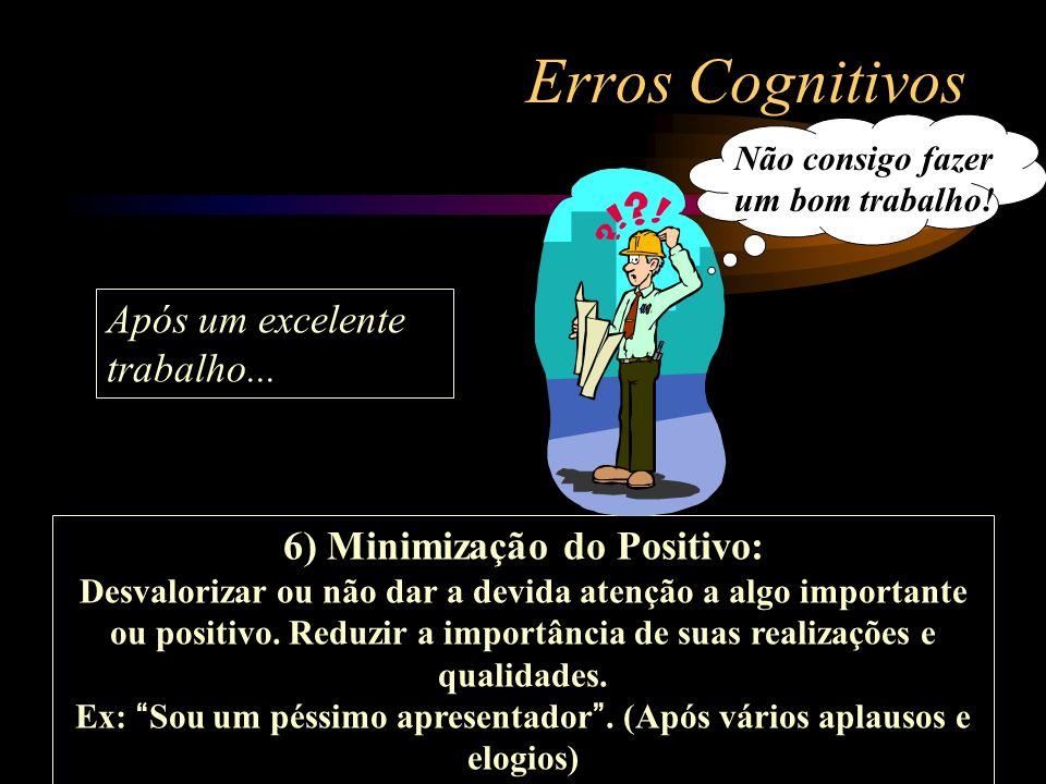Erros Cognitivos Após um excelente trabalho...