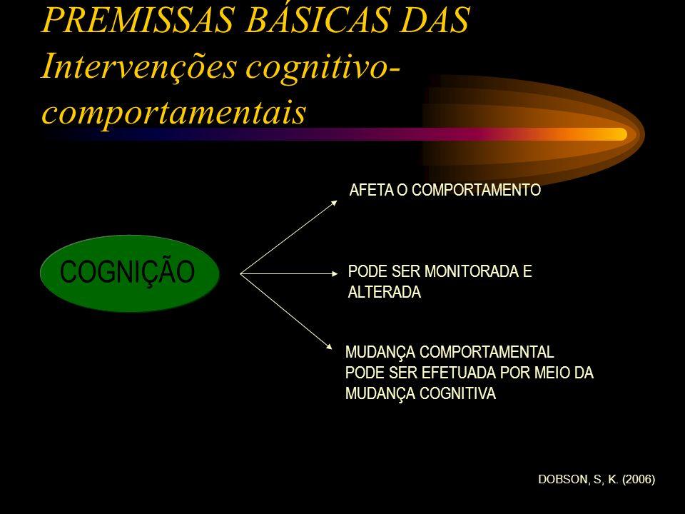 PREMISSAS BÁSICAS DAS Intervenções cognitivo-comportamentais