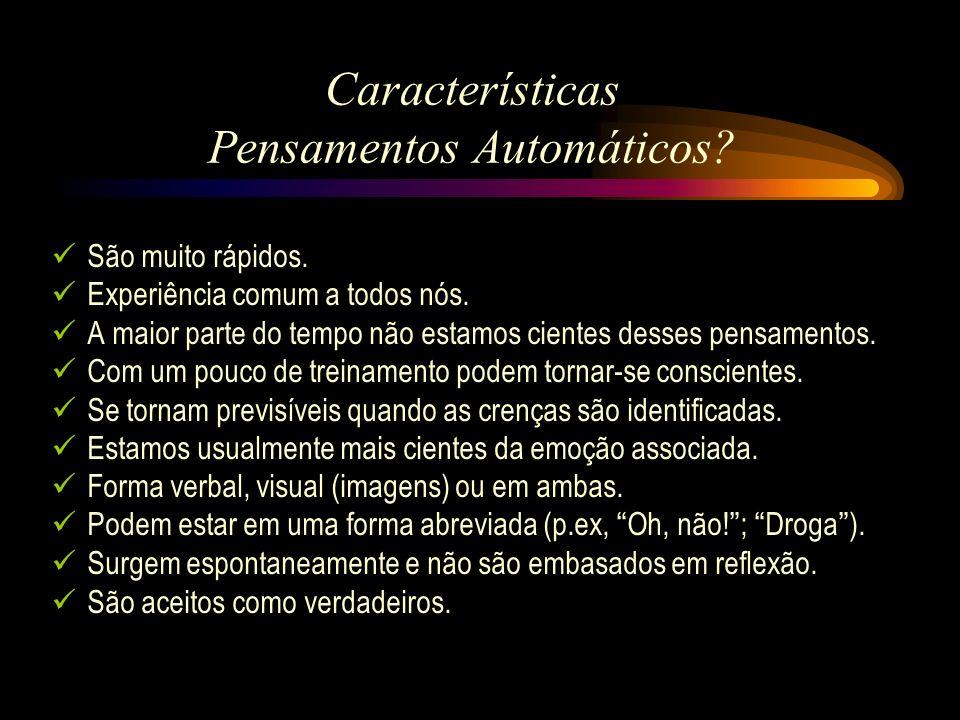 Características Pensamentos Automáticos
