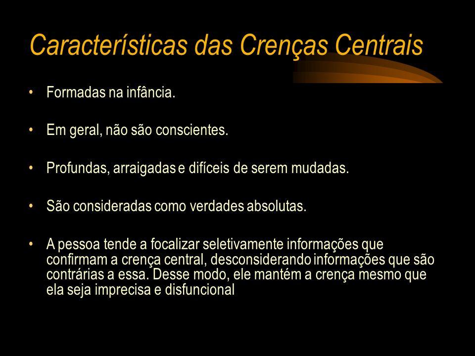 Características das Crenças Centrais