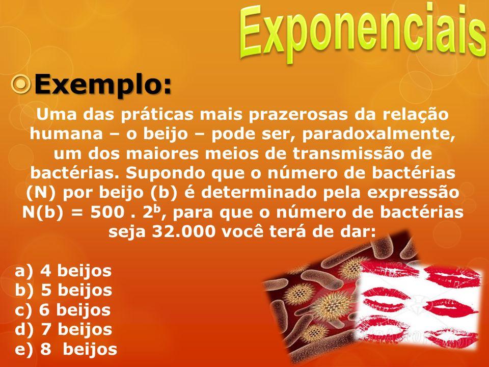 Exponenciais Exemplo: