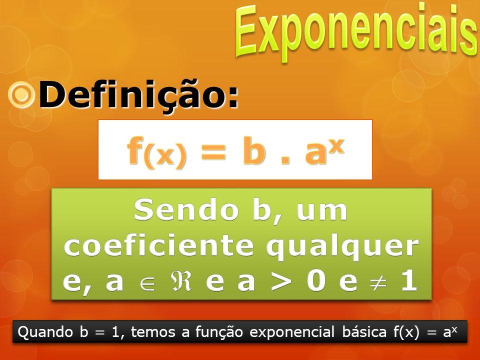 Sendo b, um coeficiente qualquer e, a   e a > 0 e  1