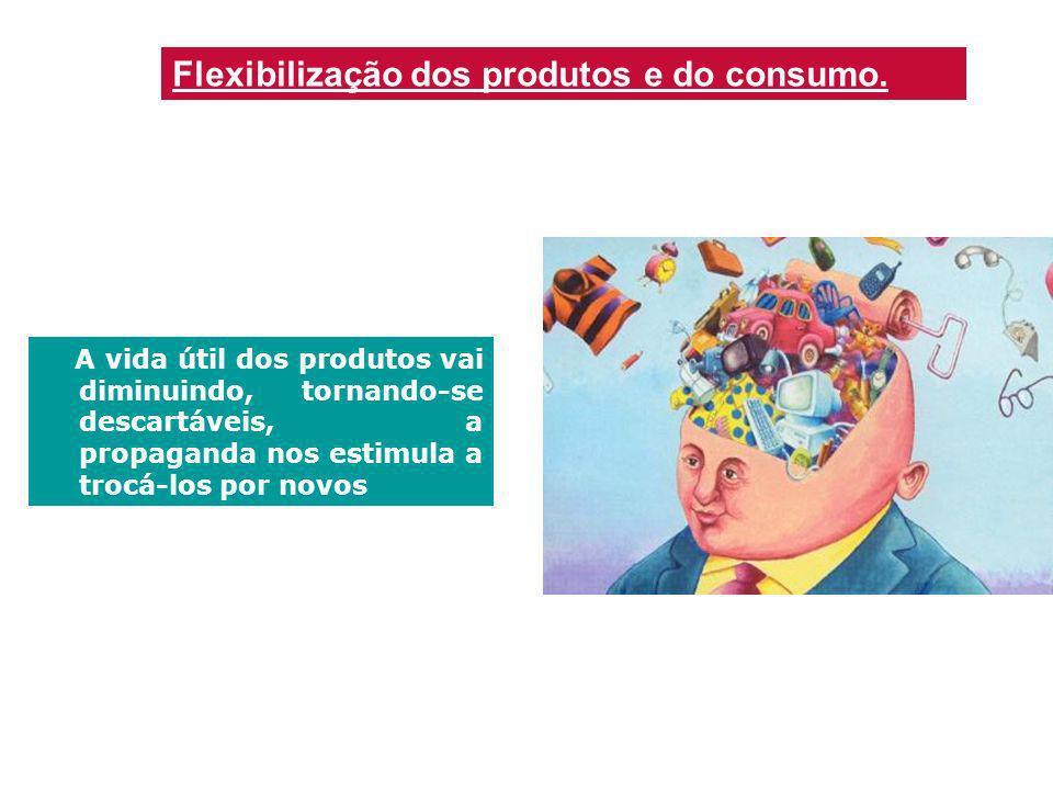 Flexibilização dos produtos e do consumo.
