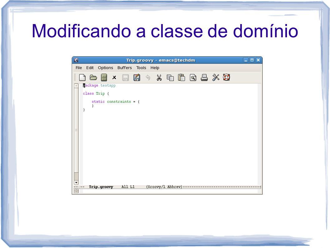 Modificando a classe de domínio