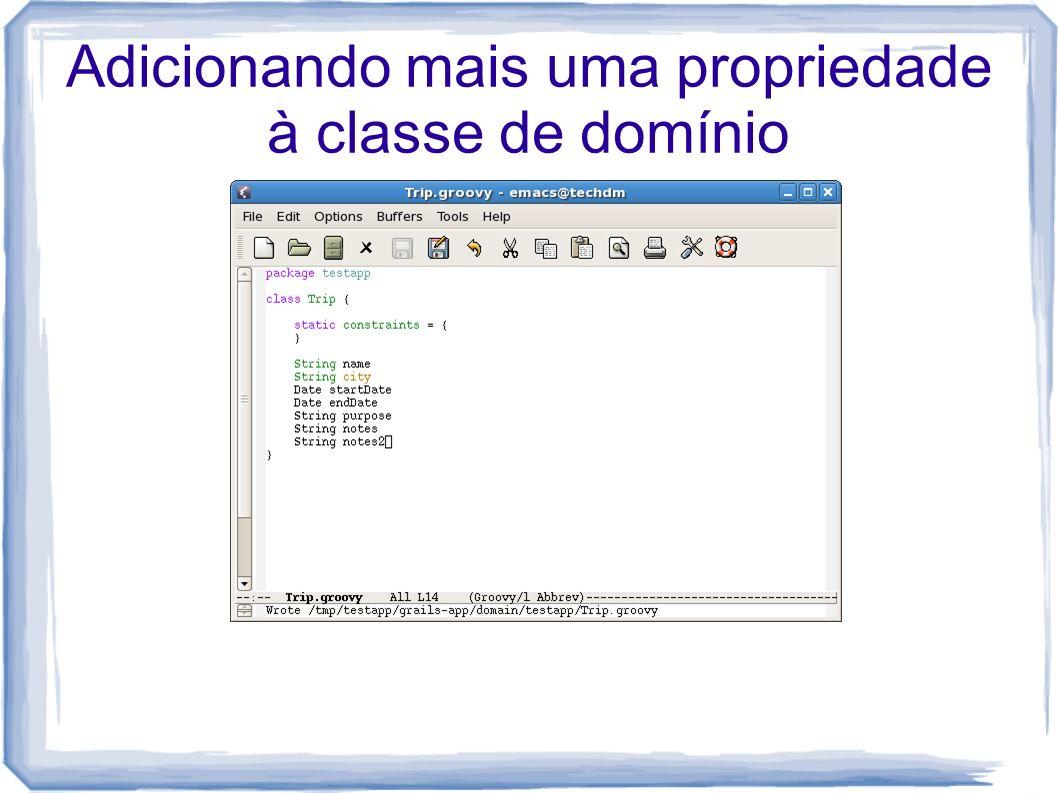 Adicionando mais uma propriedade à classe de domínio