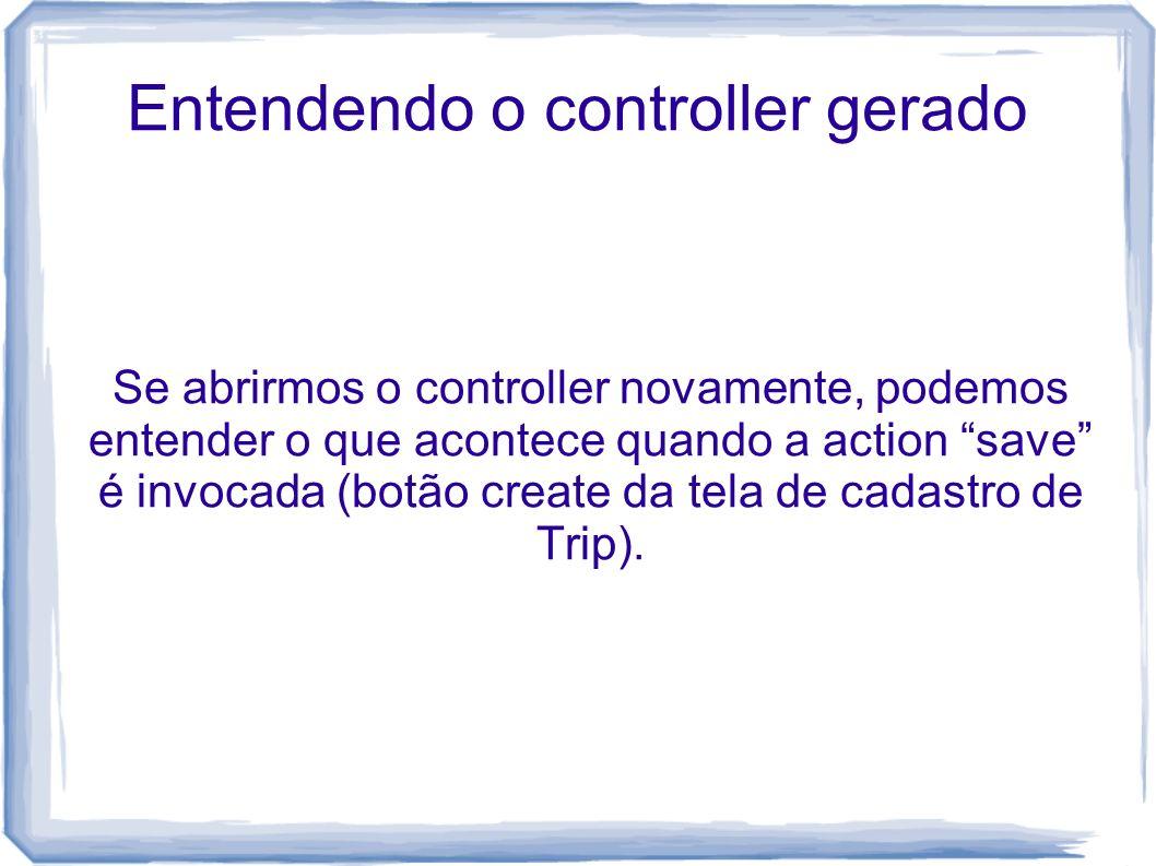 Entendendo o controller gerado