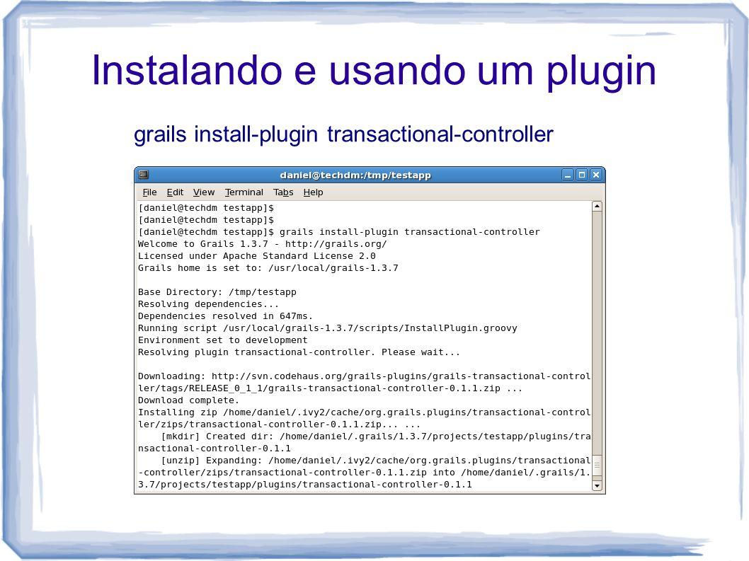 Instalando e usando um plugin