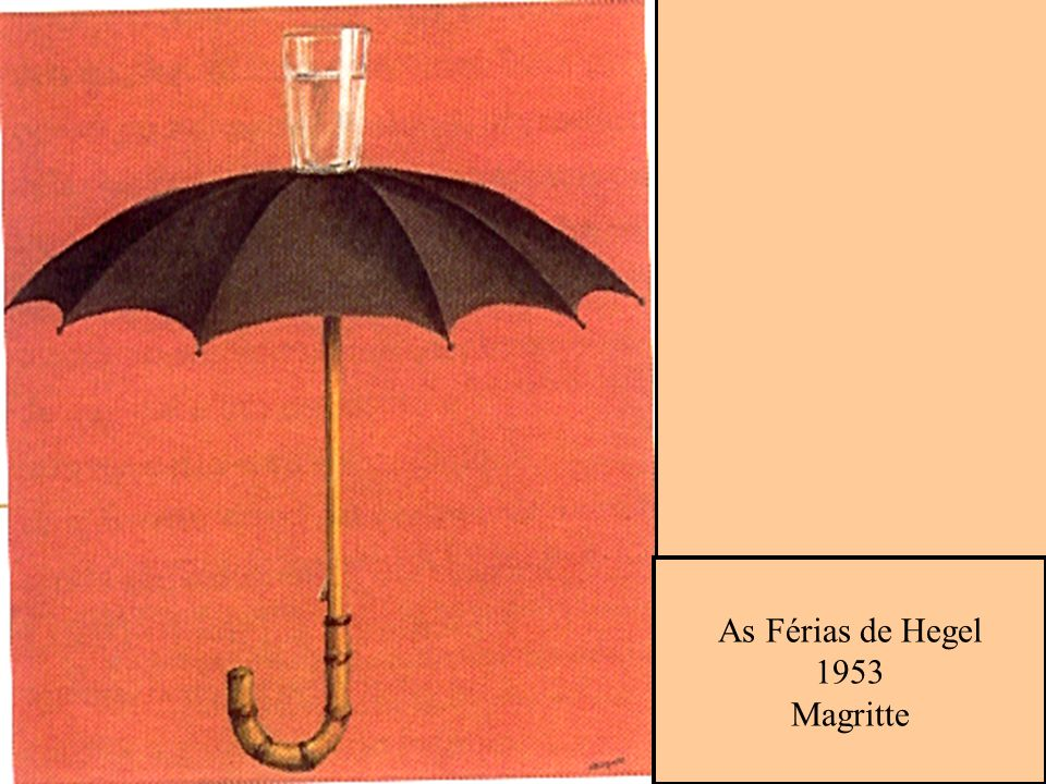 As Férias de Hegel 1953 Magritte