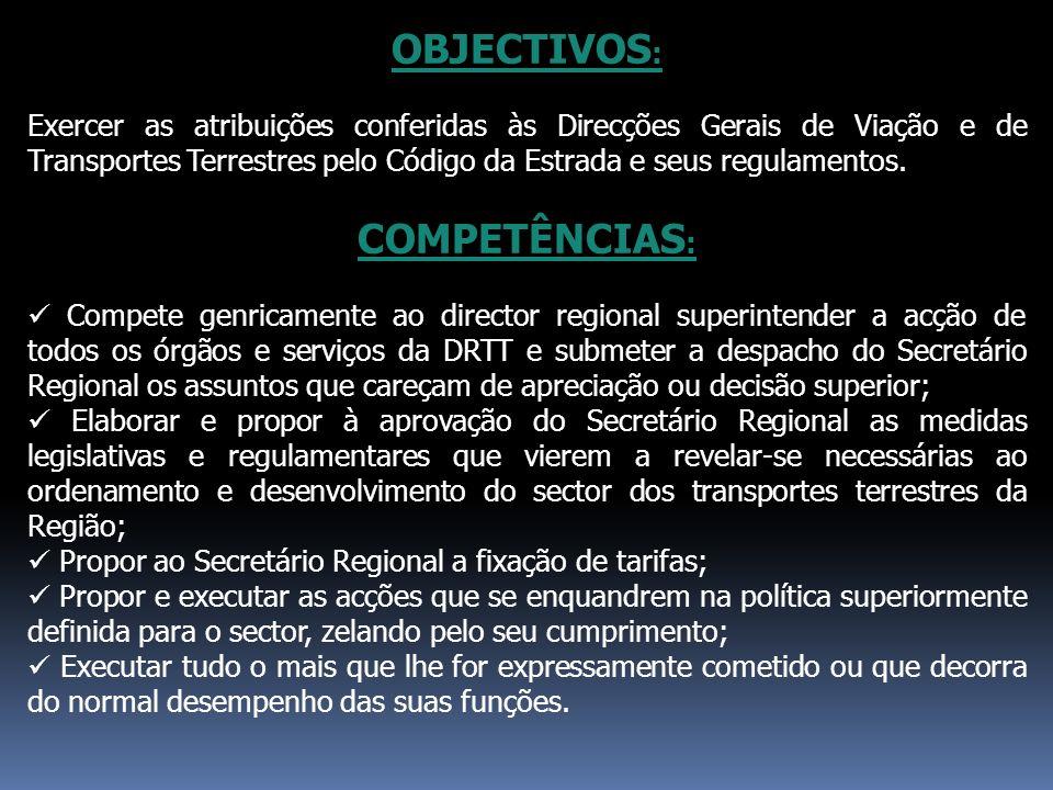 OBJECTIVOS: COMPETÊNCIAS: