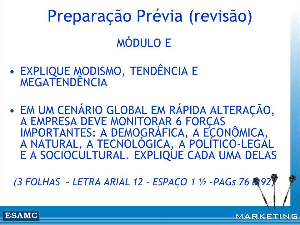 Preparação Prévia (revisão)
