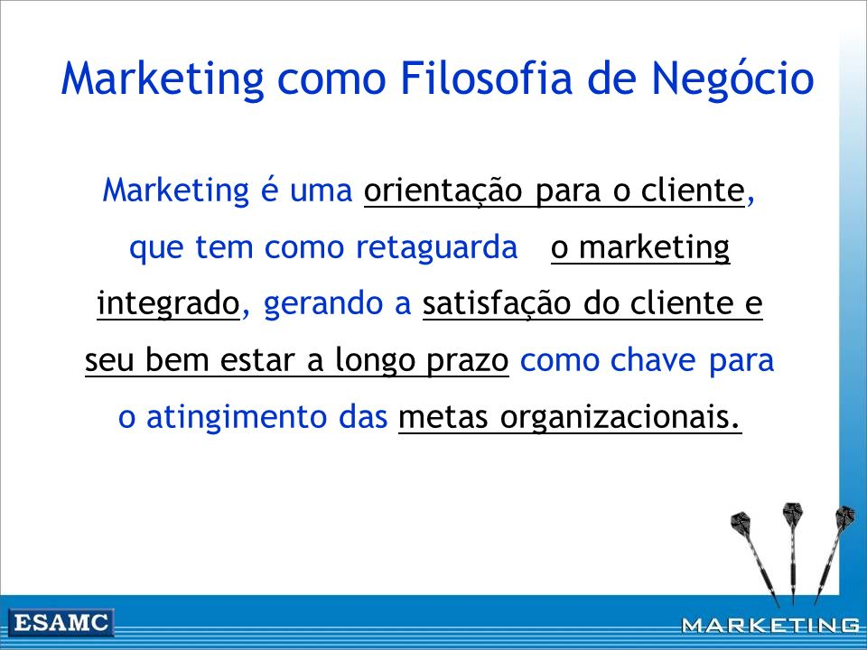 Marketing como Filosofia de Negócio