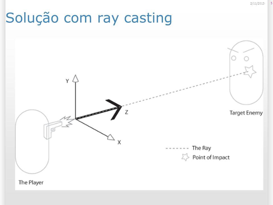 Solução com ray casting