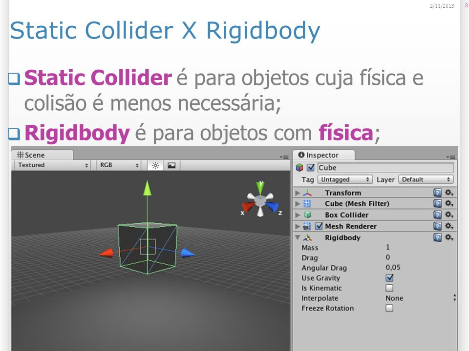 Static Collider X Rigidbody