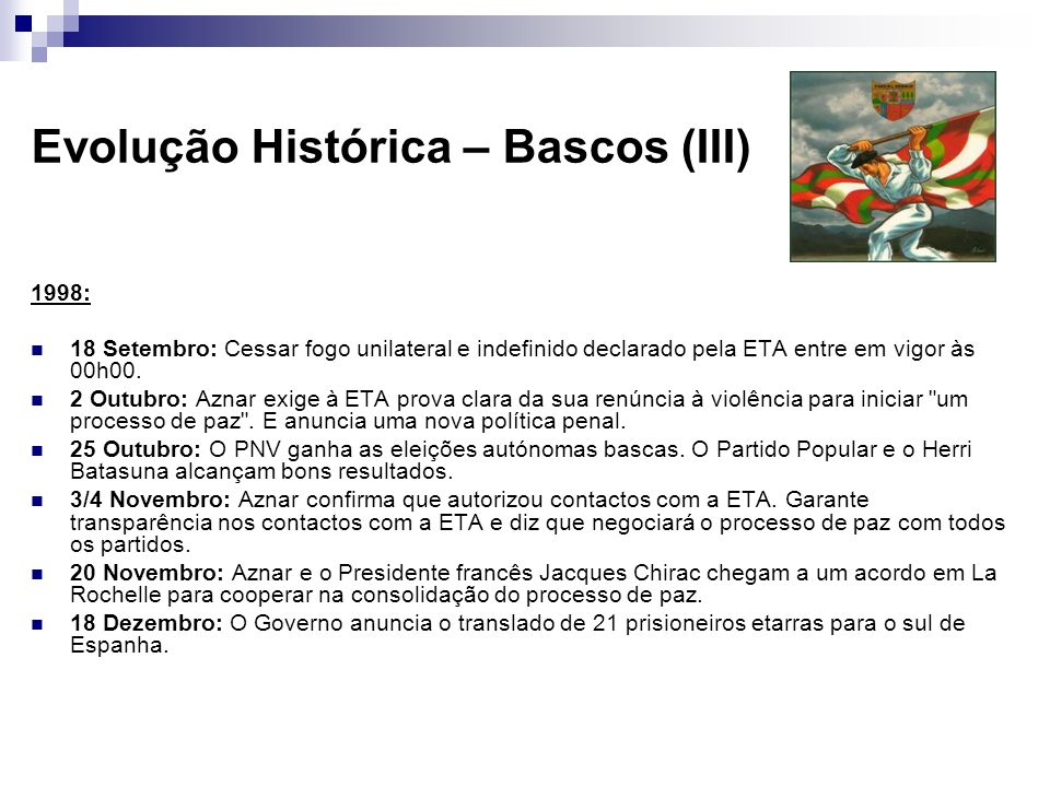 Evolução Histórica – Bascos (III)