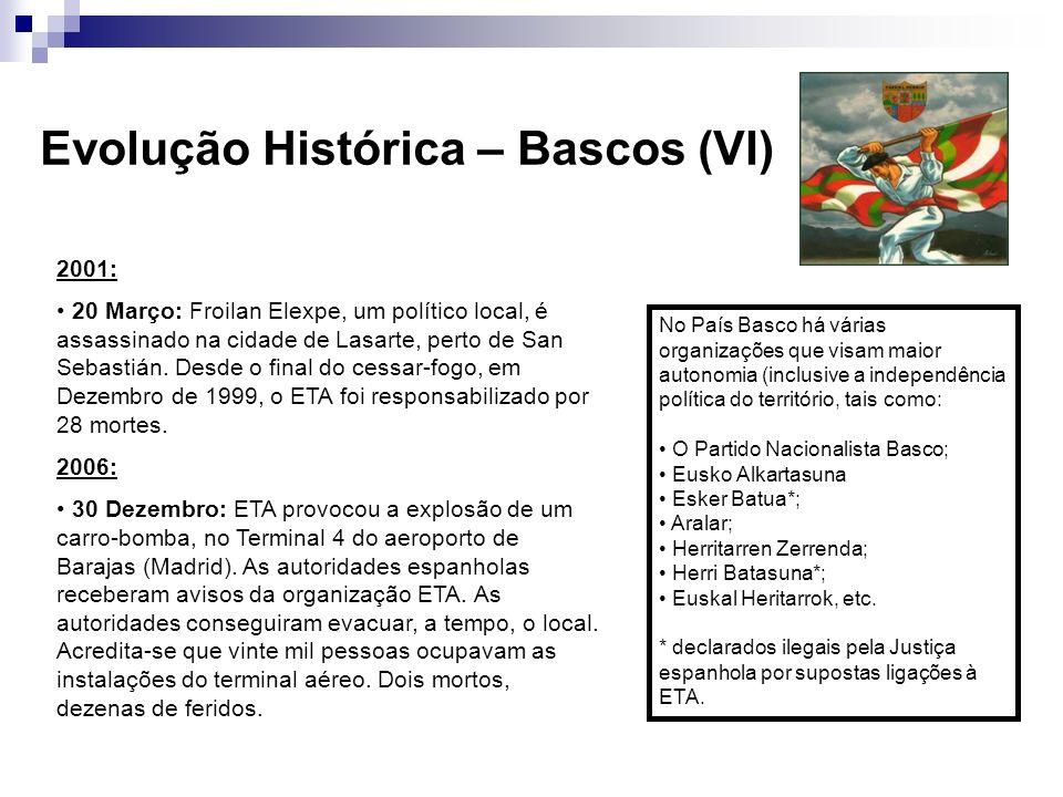 Evolução Histórica – Bascos (VI)