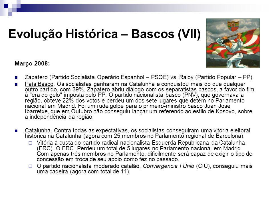 Evolução Histórica – Bascos (VII)