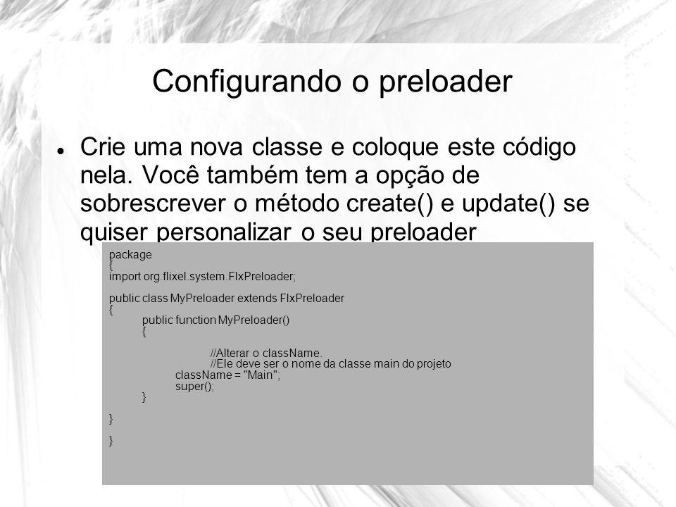 Configurando o preloader