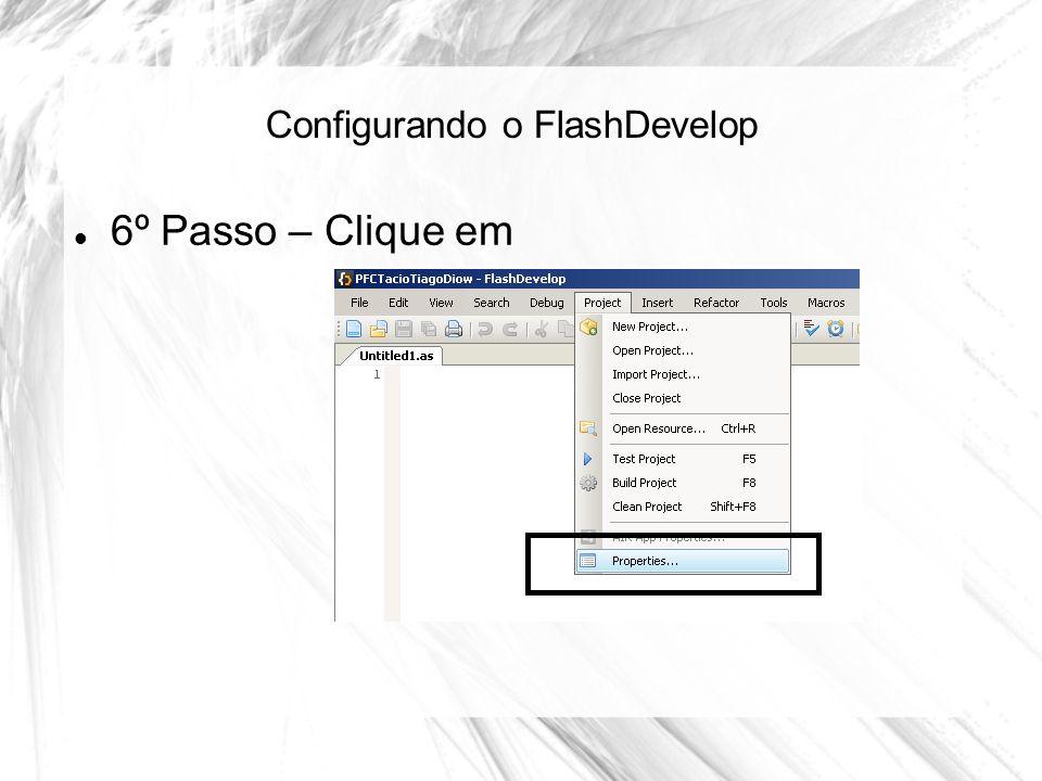 Configurando o FlashDevelop