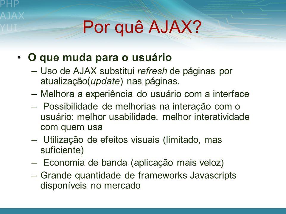 Por quê AJAX O que muda para o usuário