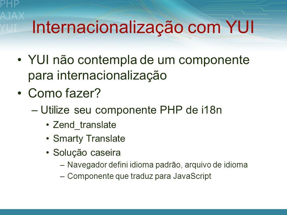 Internacionalização com YUI