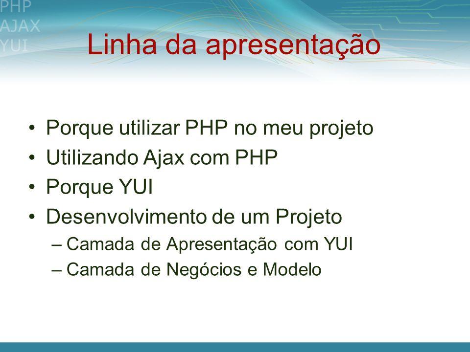 Linha da apresentação Porque utilizar PHP no meu projeto