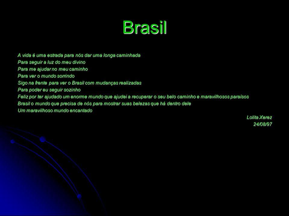 Brasil A vida é uma estrada para nós dar uma longa caminhada