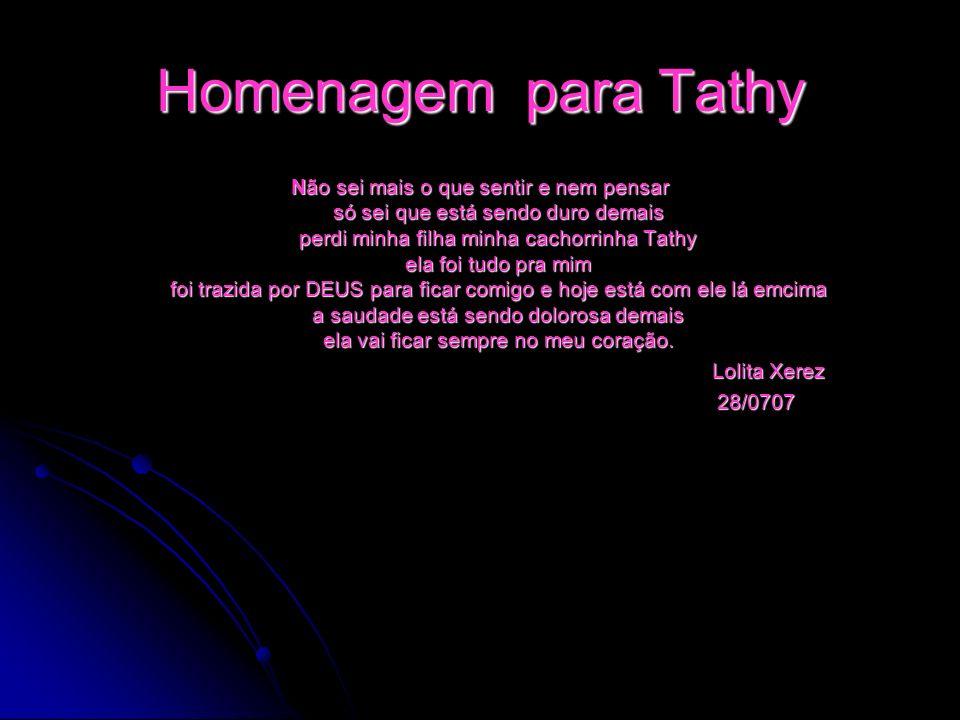 Homenagem para Tathy