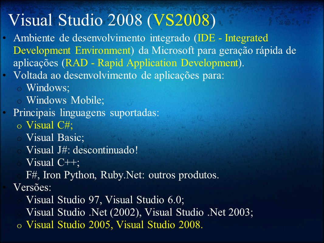 Visual Studio 2008 (VS2008)
