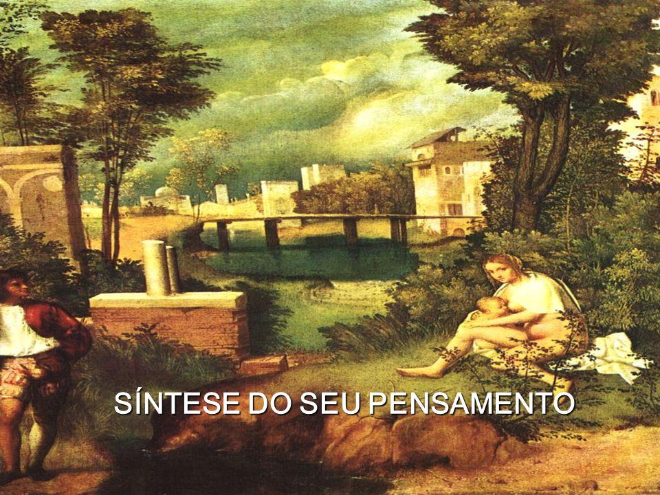 SÍNTESE DO SEU PENSAMENTO