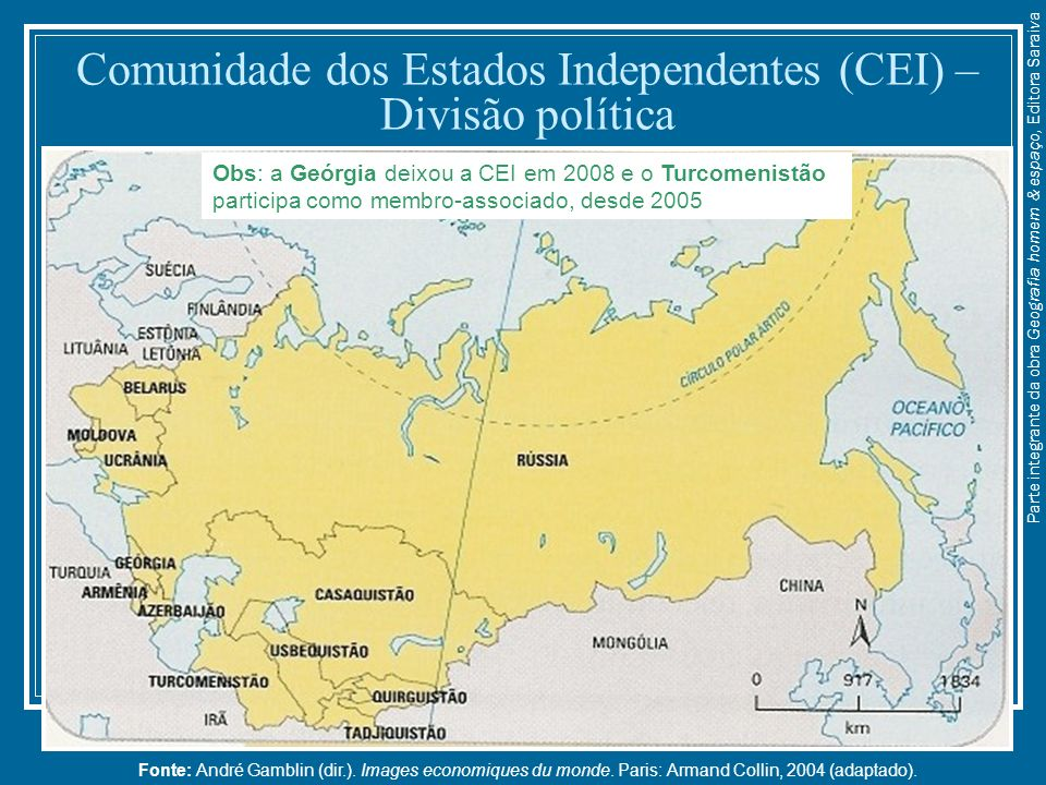 Comunidade dos Estados Independentes (CEI) – Divisão política